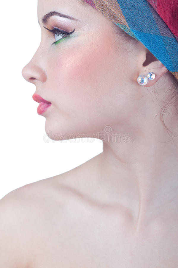 Beautiful girl with clean skin royalty free stock image