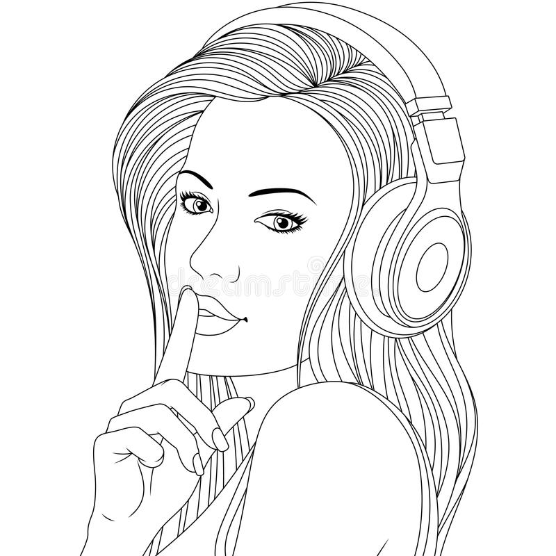 Girl Coloring Pages Stock Illustrations 808 Girl Coloring