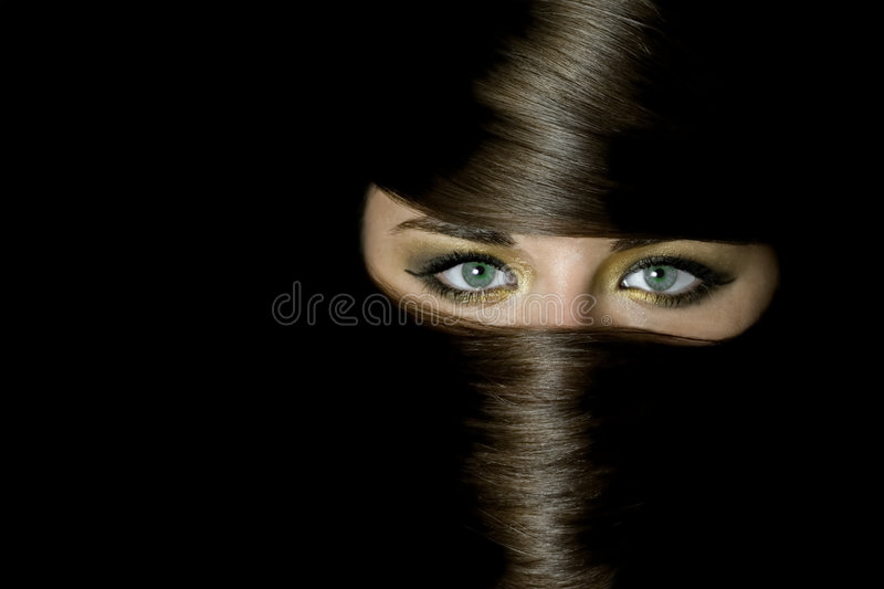 Download Beautiful Girl Covered By Hair Stock Photo - Image: 4641650
