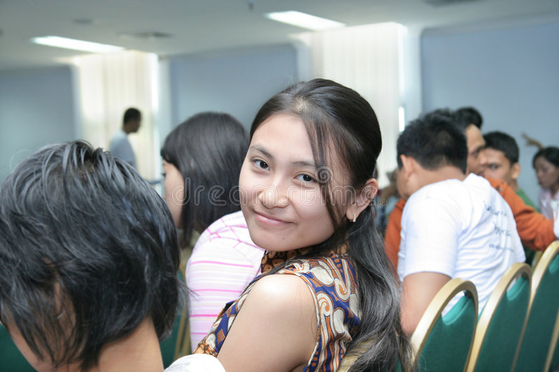 Download Beautiful Girl In The Crowd Stock Photo - Image: 7585970
