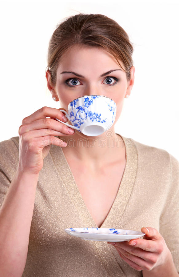 Download Beautiful Girl With A Cup Of Tea Stock Image - Image: 25510033