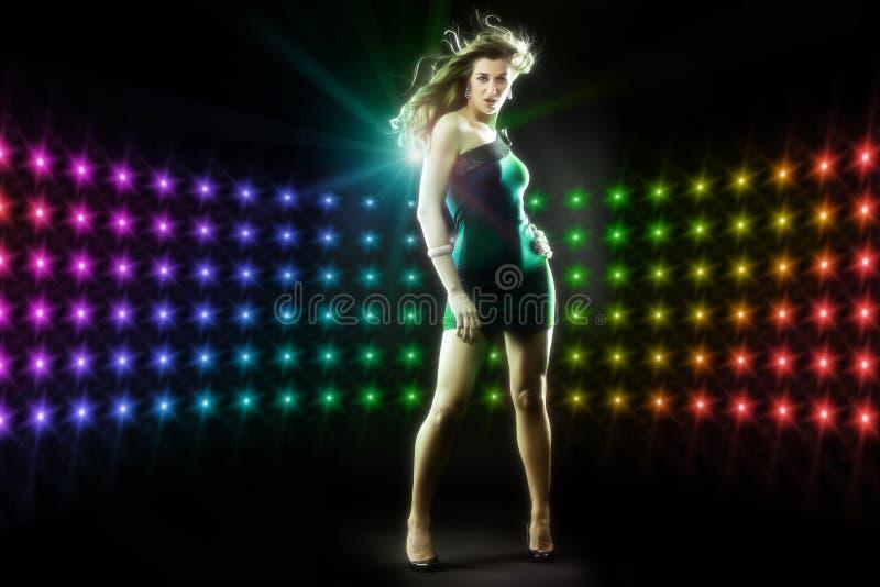 Download Beautiful Girl Dancing In Club Disco Stock Image - Image of show, elegant: 23688365