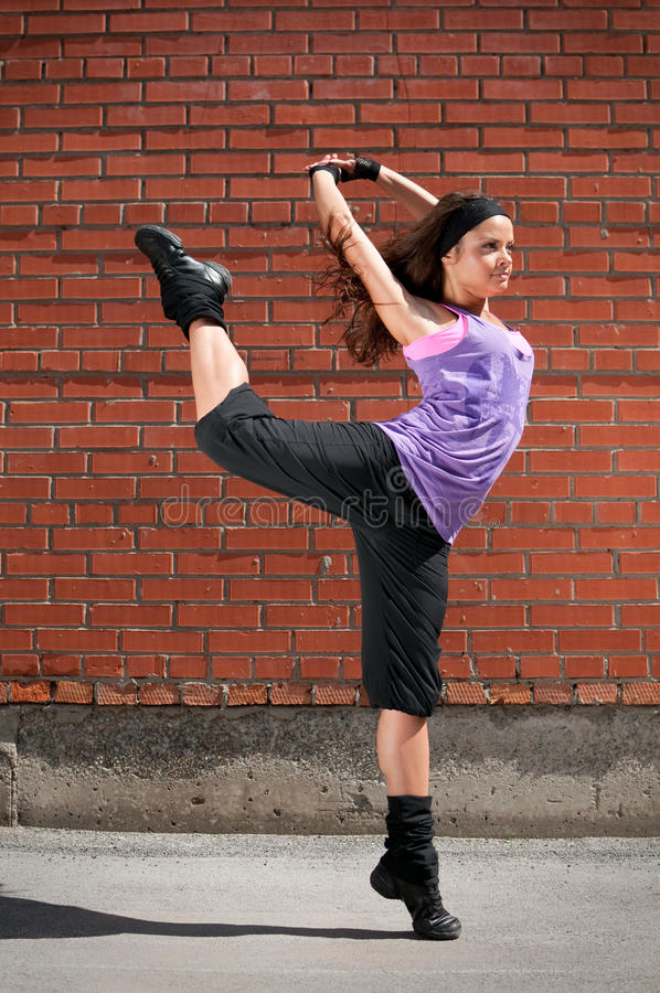 Beautiful Girl Dancing Hip-Hop Stock Photo - Image 16053156-1425
