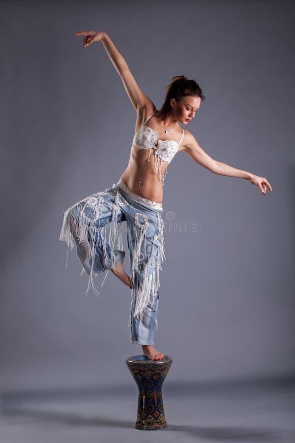 Beautiful girl dancing stock image