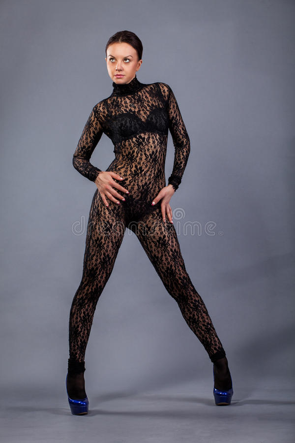Beautiful girl dancing royalty free stock photos