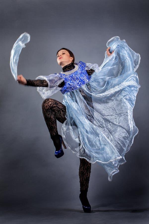 Beautiful girl dancing royalty free stock images