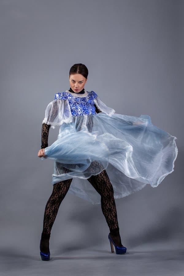 Beautiful girl dancing royalty free stock photo