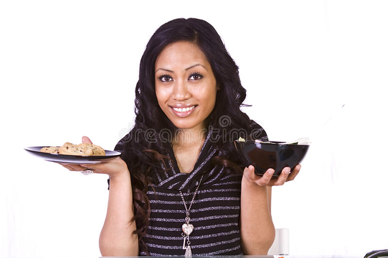 Download Beautiful Girl Deciding What To Eat Stock Photo - Image: 13294906