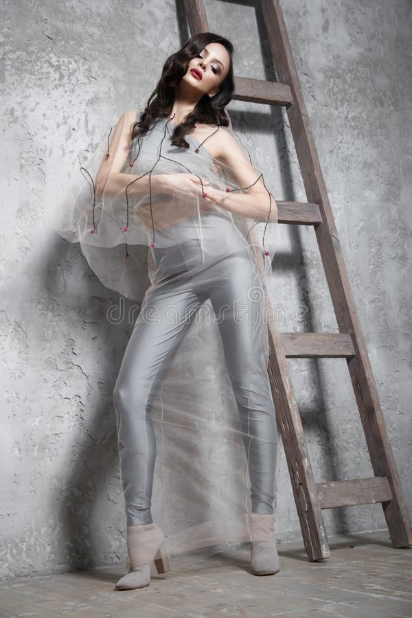 girl in transparent clothes