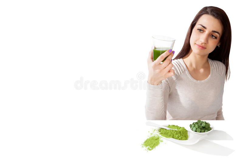 Beautiful girl detox. stock images