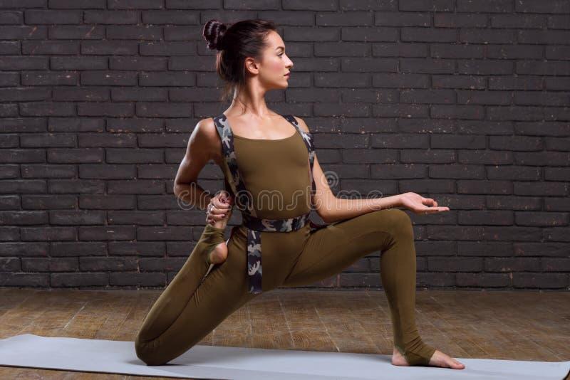 Beautiful Girl Doing Yoga Exercises stock photography