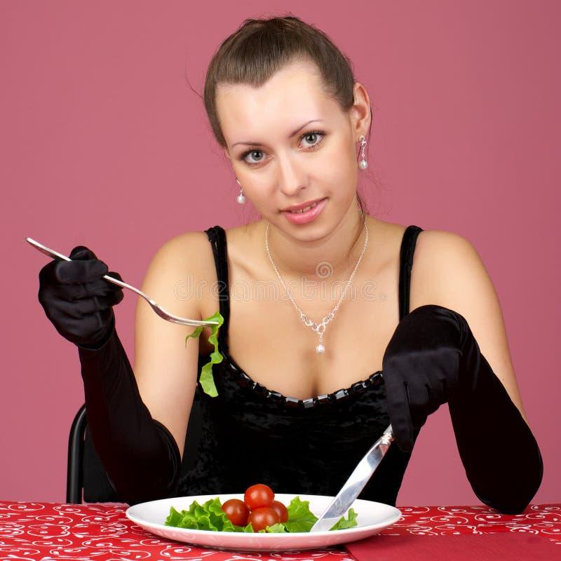 Download Beautiful Girl Eating Fresh Healthy Stock Image - Image: 13975955