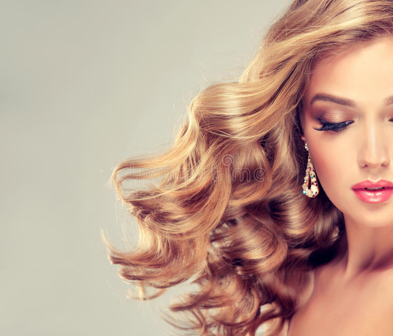 Beautiful girl with an elegant hairstyle. stock photography
