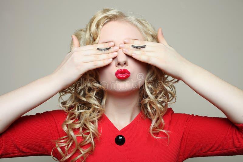 Girl, eyelash extension stock photography