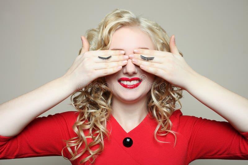 Girl, eyelash extension royalty free stock photos