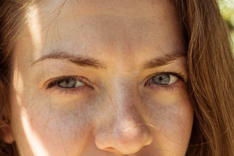 Beautiful girl eyes look royalty free stock image