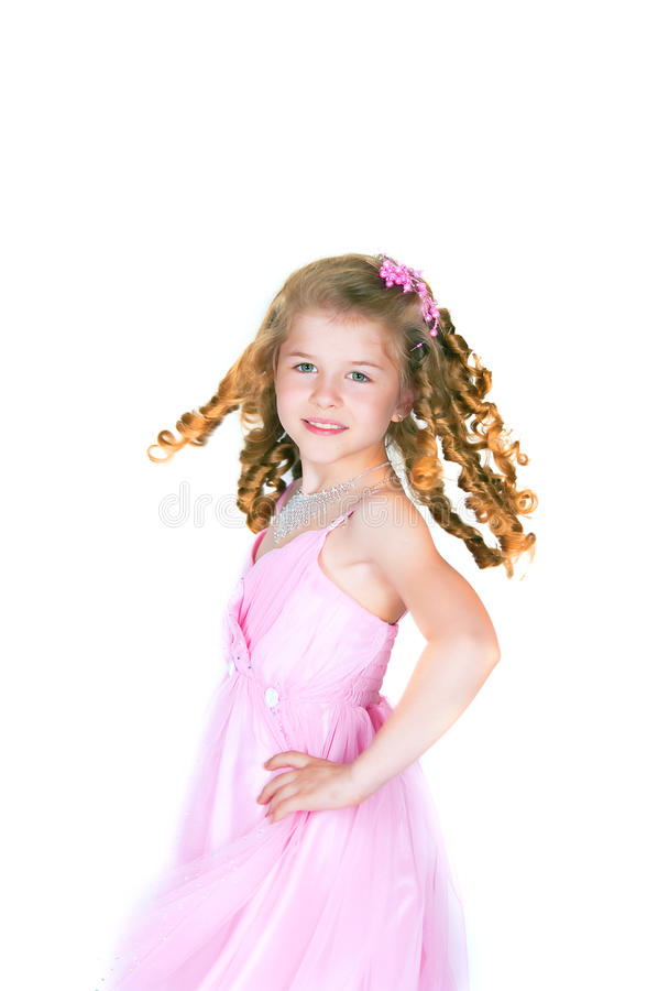 The Beautiful Girl With A Fair Hair Stock Images