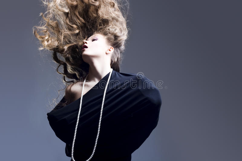 Download Beautiful Girl With Flying Blond Hair Stock Image - Image: 13705171
