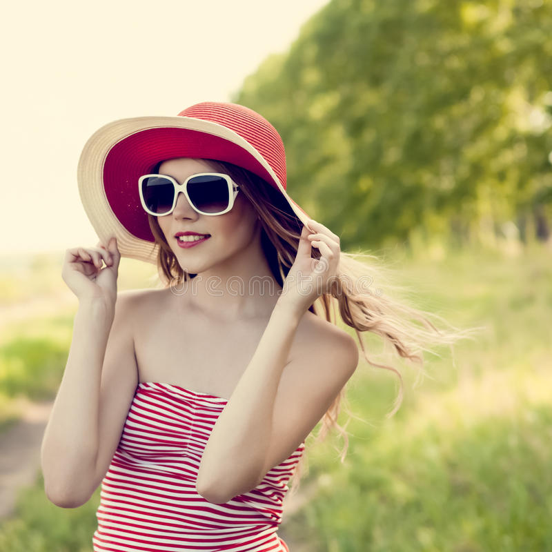 Download Beautiful Girl In The Forest Stock Image - Image: 25340457