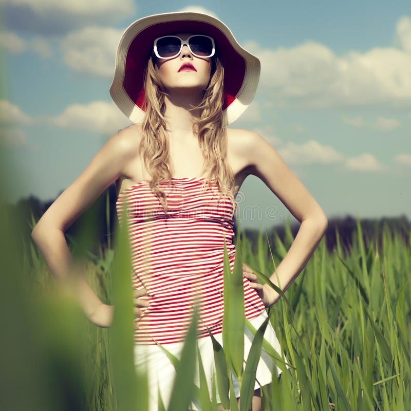 Download Beautiful Girl In The Forest Stock Photo - Image: 25340480