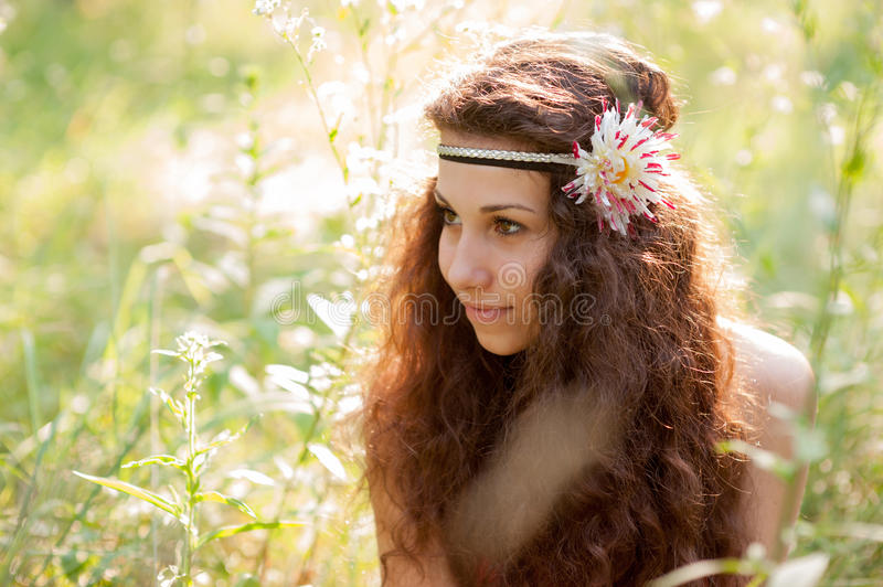 Download Beautiful girl in a forest stock image. Image of fresh - 32178103