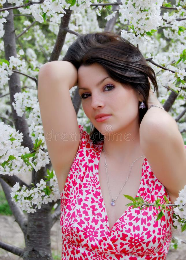 Download The Beautiful Girl In A Garden Stock Photo - Image of nature, park: 14122994