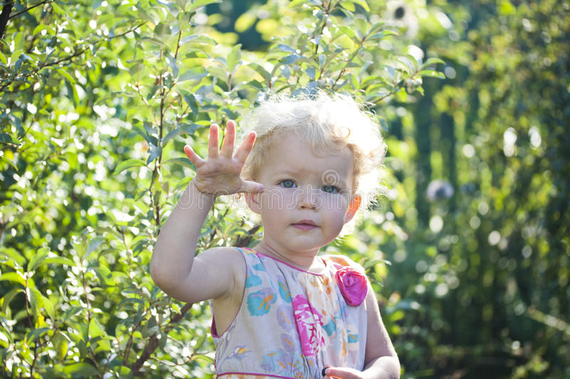 Download The beautiful girl stock image. Image of greens, hand - 39500295