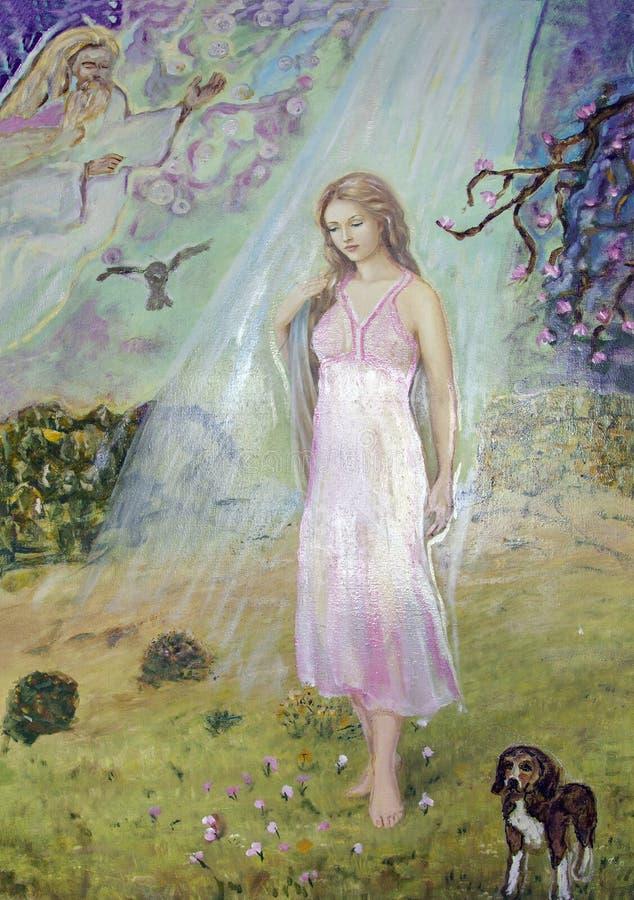 https://thumbs.dreamstime.com/b/beautiful-girl-garden-dog-fictional-portrait-oil-painting-beautiful-girl-garden-dog-fictional-portrait-172567612.jpg