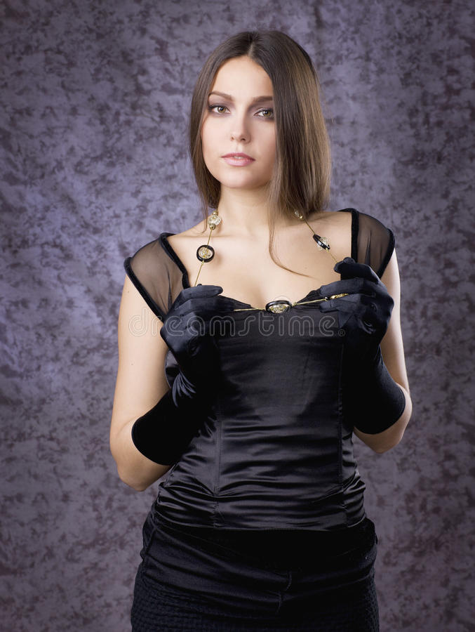 Beautiful Girl In Gloves Stock Images