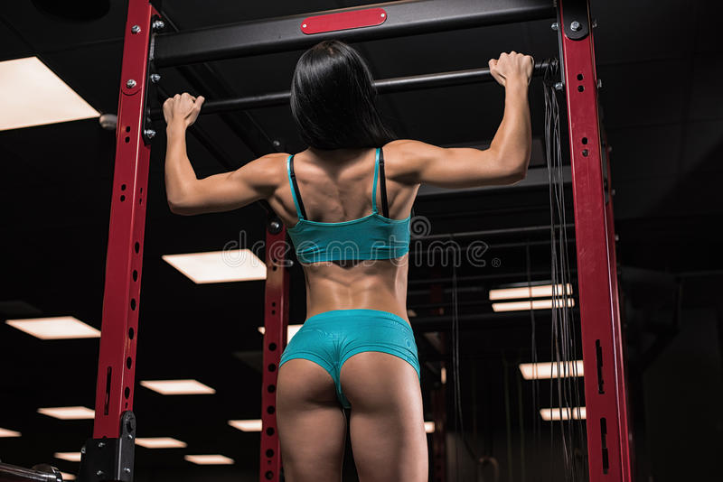 Beautiful girl at the gym royalty free stock image