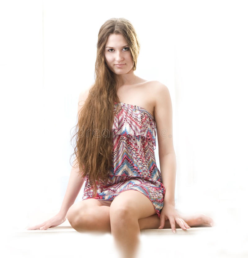 beautiful girl hair long young στοκ φωτογραφίες με δικαίωμα ελεύθερης χρήσης