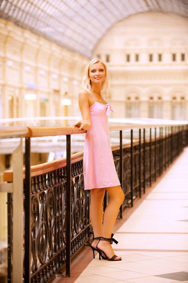 Download Beautiful girl at handrail stock photo. Image of cheerful - 13090682