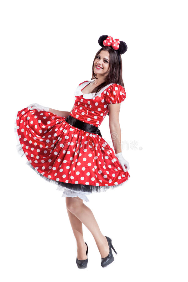 Beautiful girl happy smiling in the retro style royalty free stock images