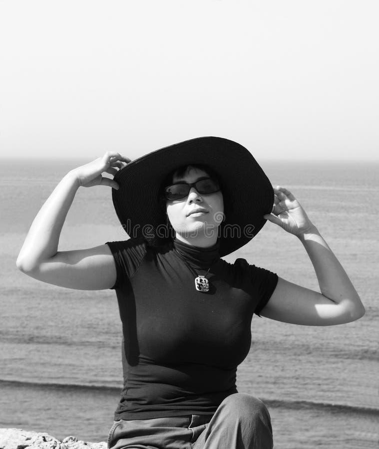 Beautiful girl in the hat