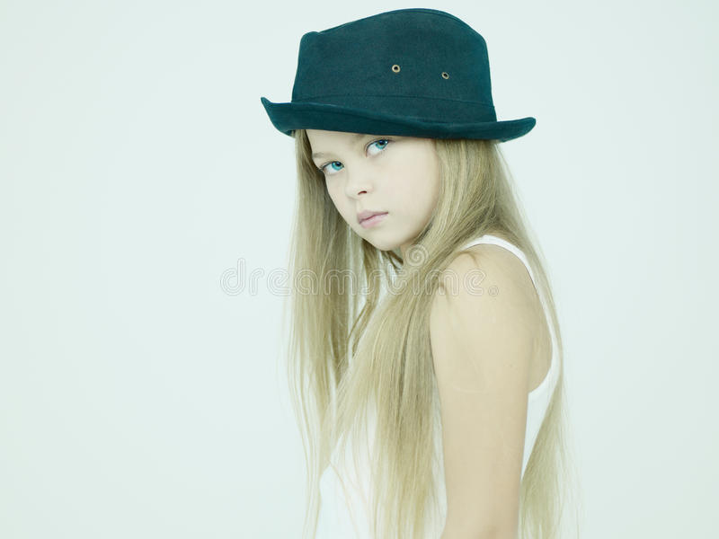 Download Beautiful girl in hat stock photo. Image of healthy, blond - 28699402
