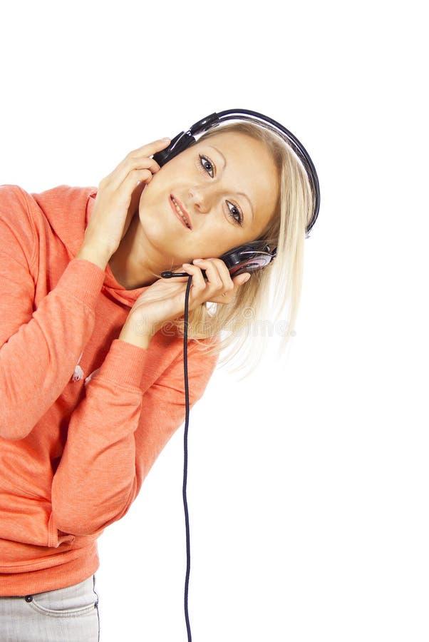 Download Beautiful Girl With Headphones Stock Photo - Image: 25387074