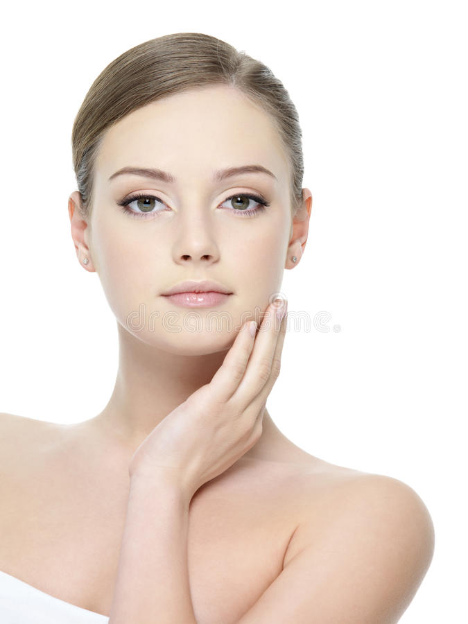 Download Beautiful Girl With Healthy Skin Stock Image - Image: 22245019