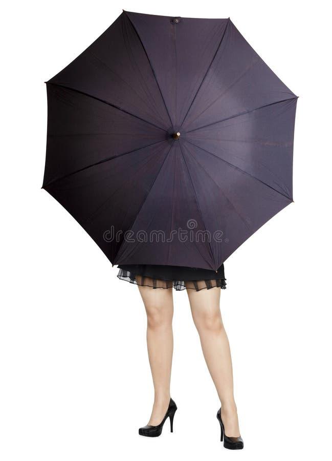 Download Beautiful Girl Hiding Behind A Umbrella Royalty Free Stock Photo - Image: 17114915