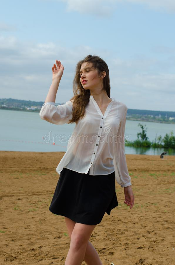Free Beautiful Girl In A Blouse Stock Photography - 130367802