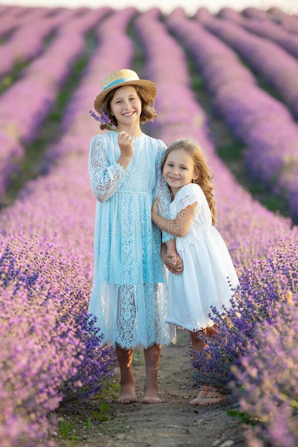 Free Beautiful Girl In A Field With Lavender. Royalty Free Stock Image - 188791976