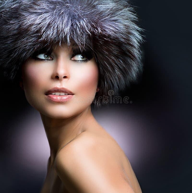 Free Beautiful Girl In Fur Hat Stock Image - 27610191