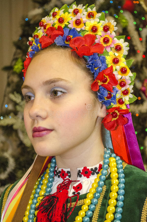 Free Beautiful Girl In The National Ukrainian Costume Royalty Free Stock Photo - 79527385