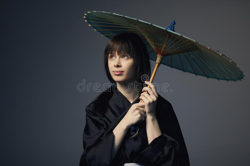 Download Beautiful Girl With Japan Umbrella Stock Image - Image: 31109149