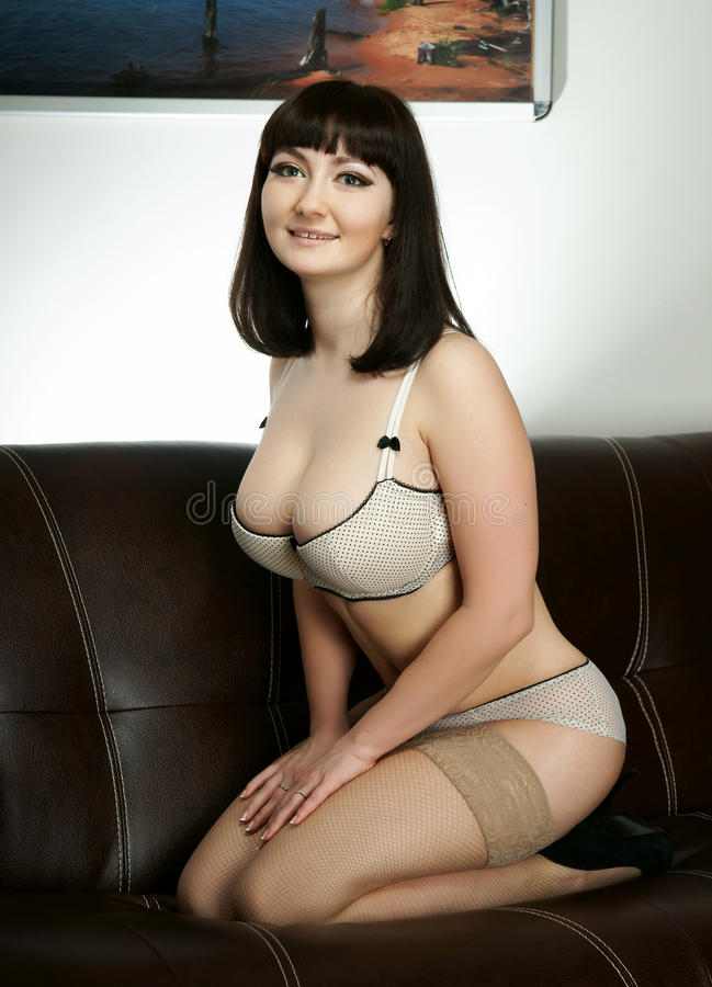 The beautiful girl in lingerie
