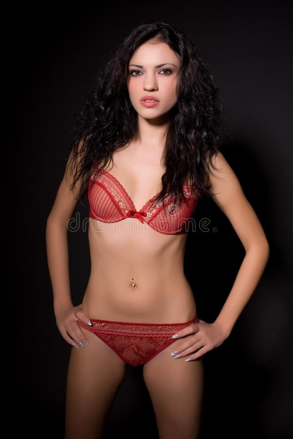 Beautiful girl in lingerie royalty free stock photos