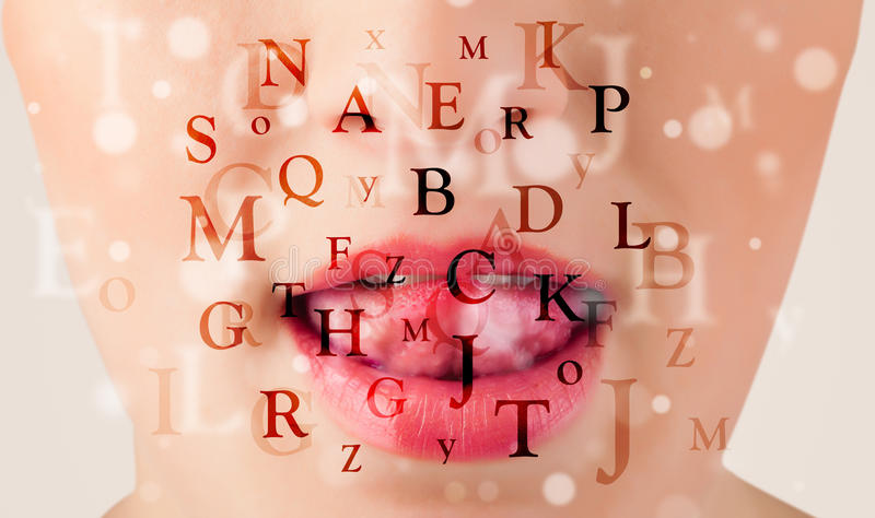 Download Beautiful Girl Lips Breathing Fonts And Characters Royalty Free Stock Photo - Image: 34361335