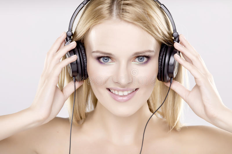 Download Beautiful Girl Is Listen To The Music Stock Image - Image: 22356511
