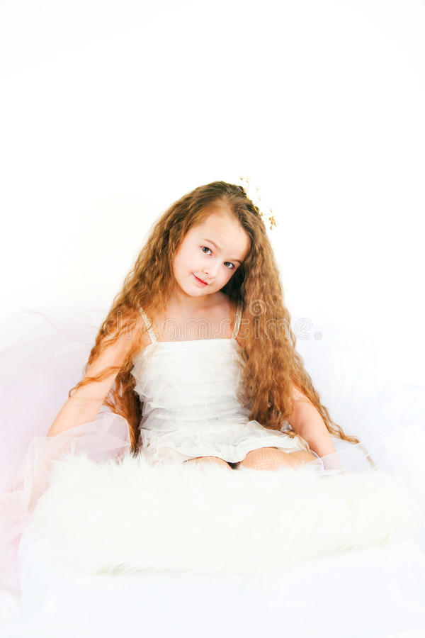 The Beautiful Girl With Long Hair Stock Images