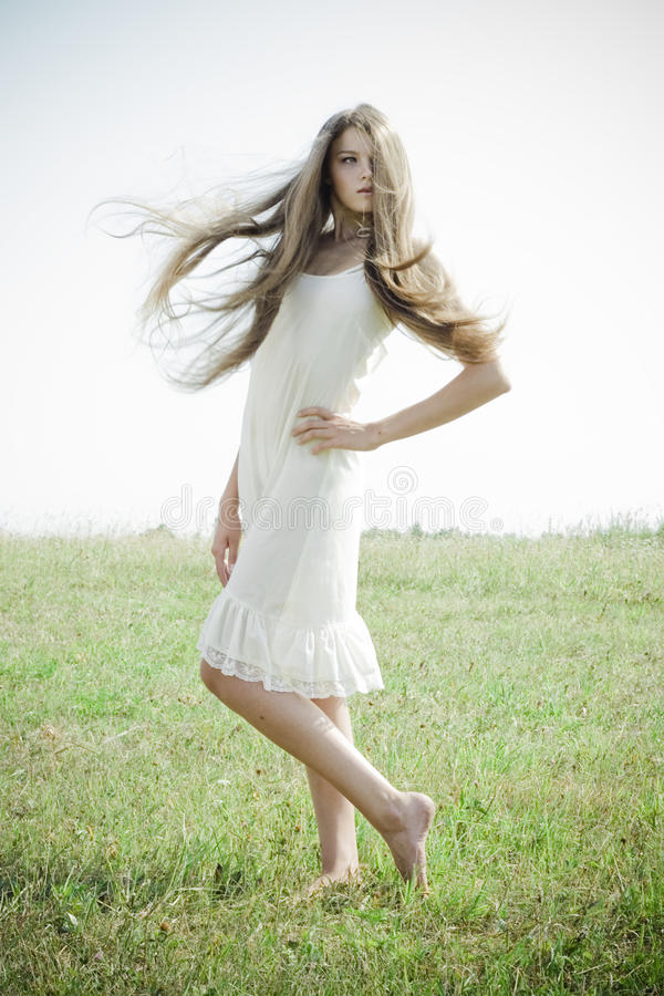 Download Beautiful Girl With Luxuriant Hair Stock Photo - Image: 15431194