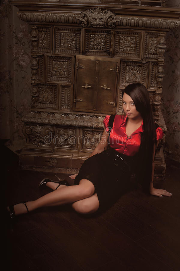 Download Beautiful Girl In A Luxurious Vintage Interior Stock Images - Image: 19340434